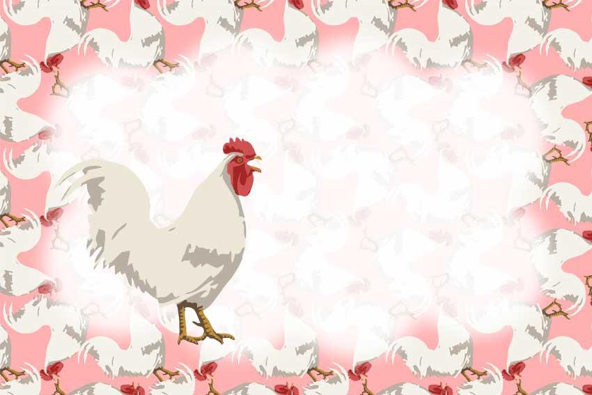 シンプル鶏シンプルタッチにわとりの年賀状用イラストフリー素材集