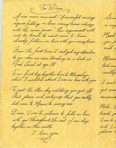 wedding vows sample   Handwritten Life