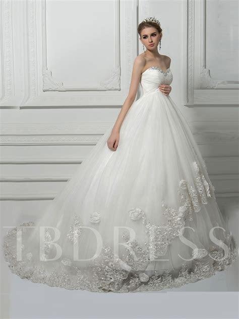 Beading Ball Gown Lace Pregnant Wedding Dress   Tbdress.com
