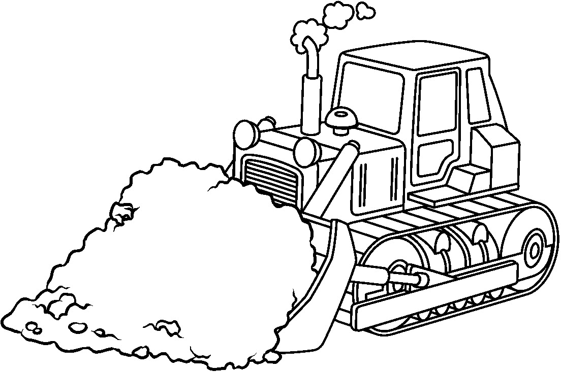 Simple Bulldozer Drawing at GetDrawings | Free download