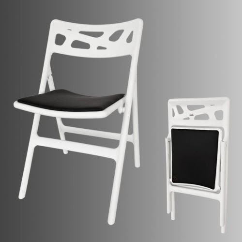 chaise de jardin avec coussin r sistant aux intemp ries chaise de camping pliante chaise de. Black Bedroom Furniture Sets. Home Design Ideas