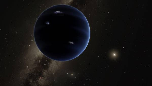 Enigma. La ilustración publicada por los científicos muestra cómo sería el noveno planeta del Sistema Solar. Aún no lograron verlo.