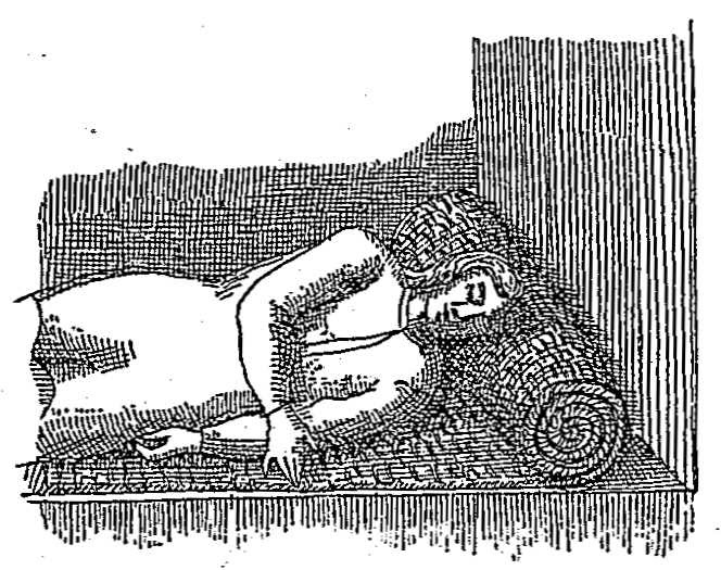 Use of mat in sleeping (after De la Potherie).