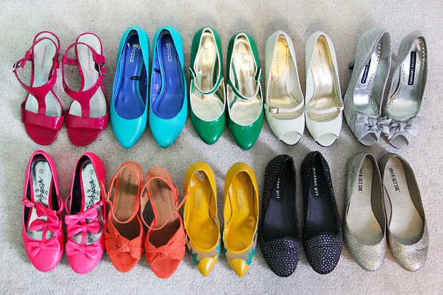 blog wanderlust whimsy megan shoes joe fresh h&m value village thrift pink yellow orange green teal black gold silver