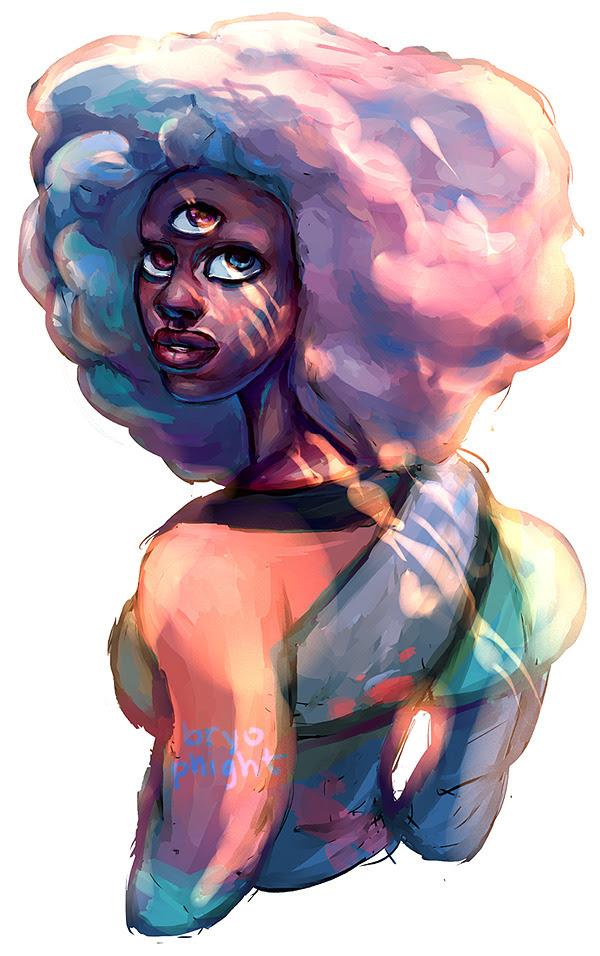 cotton candy rainbow queen!!! 。・゚ヾ(✦థ ェ థ)ノ。゚・。 1st draft