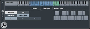 You can adjust the layout of the Chord Pads via the Pad Layout tab.
