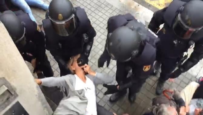 Càrregues policials durant l'1-O