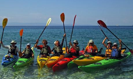 Sea kayaking, the Sporades