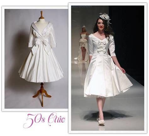 Tea length Wedding Dresses, Tea Length Bridal Gown, 50s