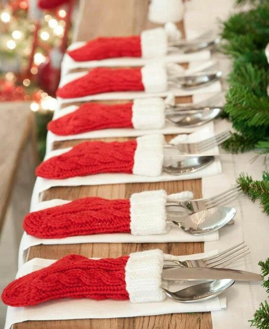 cutlery christmas sock knit - Google Search