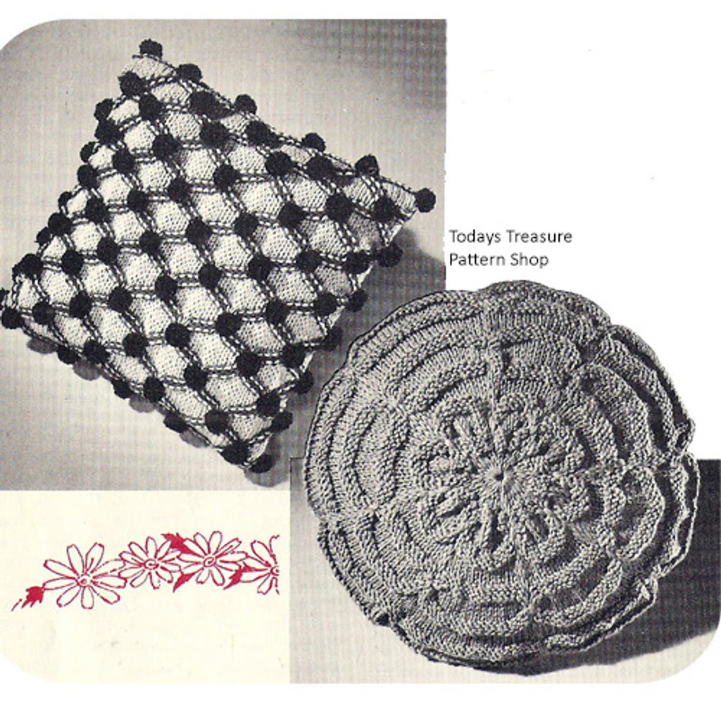 Knitted Smocked Pillow Pattern