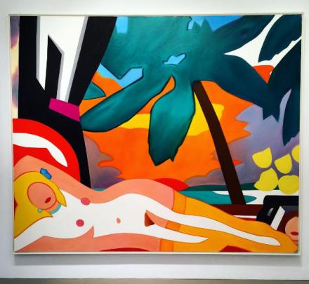 Tom Wesselmann, Sunset Nude z Big Palmy (2004), za pośrednictwem sztuki Obserwowane