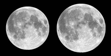 full moon at apogee and perigee