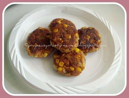 Corn & Bread Cutlet