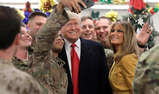 Trump and Melania visit US troops in Iraw