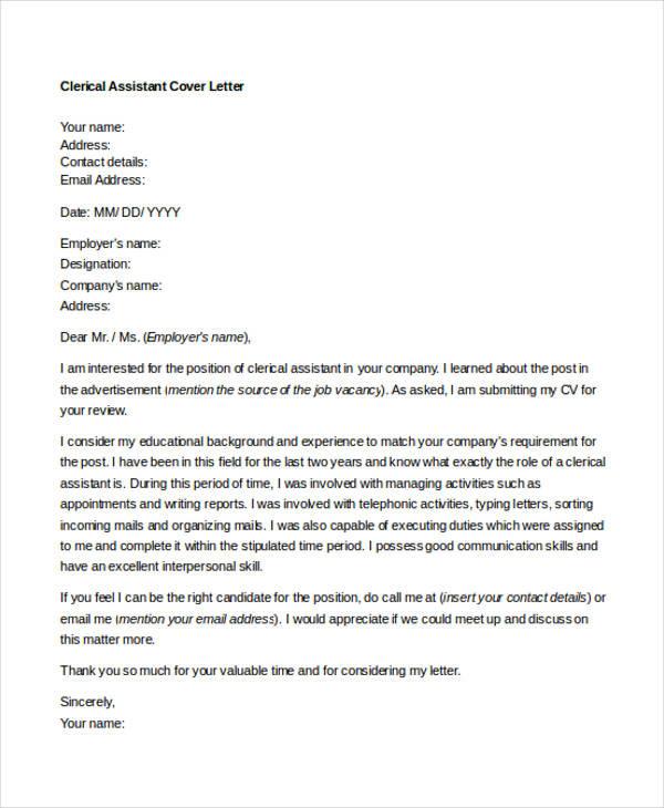 Cover Letter Administrative Officer Sample