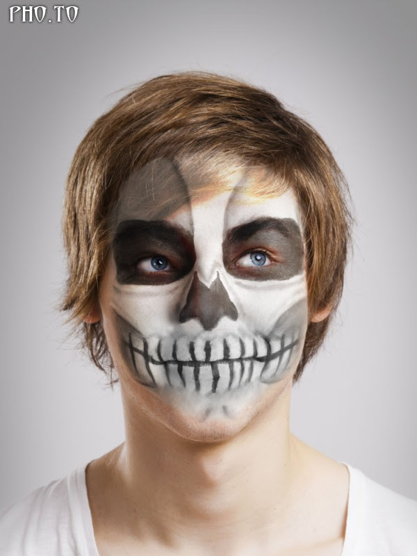Skull Photo Editor To Add Realistic Skull Makeup To Face