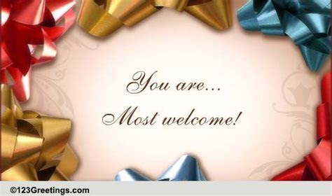You Are Always Welcome! Free You are Welcome eCards