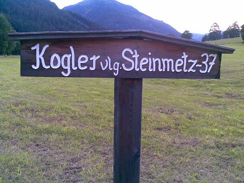 Vulgonamenschild Pusterwald