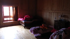 Our bedroom at the homestay