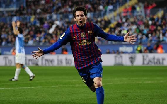 Liga BBVA: Málaga-Barcelona: Lionel Messi