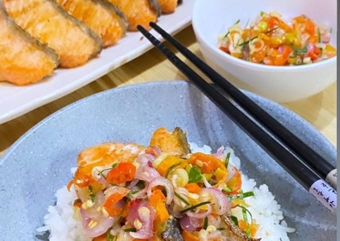 Langkah Mudah untuk Membuat Grilled Salmon Sambal Matah, Menggugah Selera