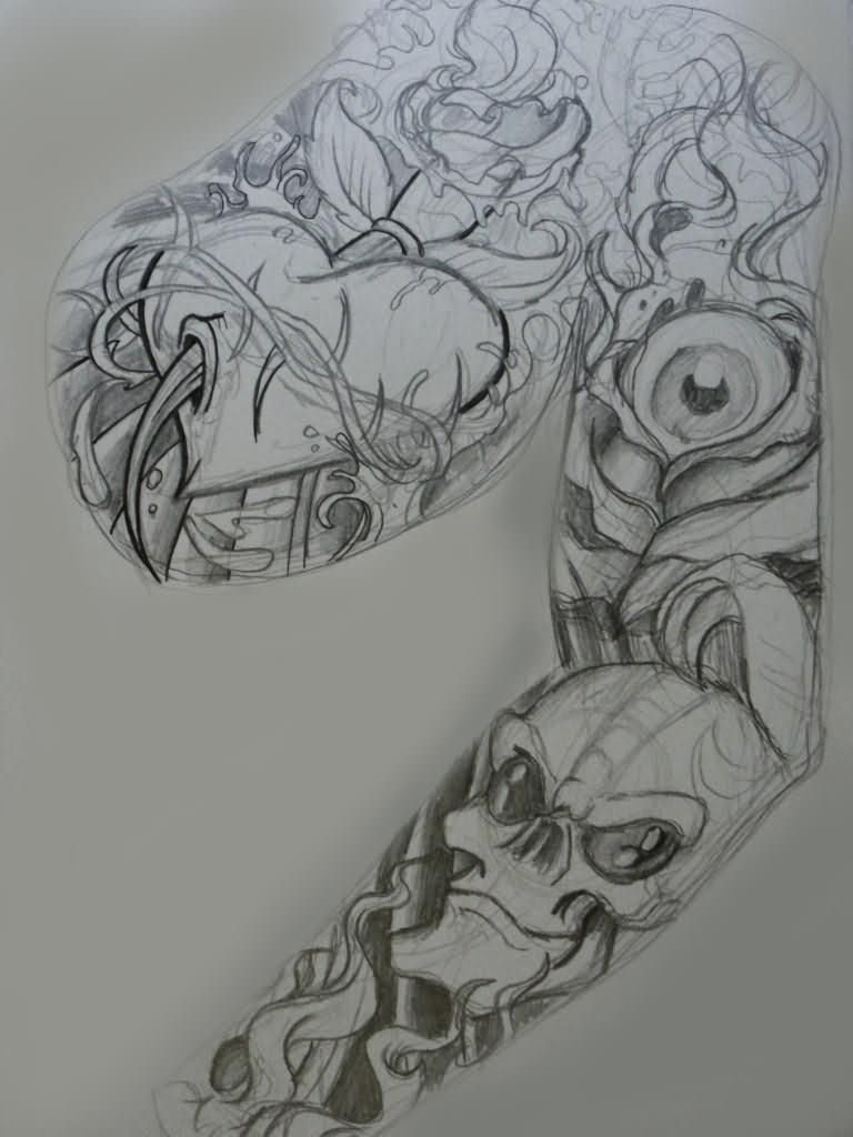 Exquisite Half Sleeve Tattoo Design