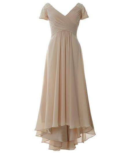 Champagne Chiffon Dresses for Mother of the Bride Beaded
