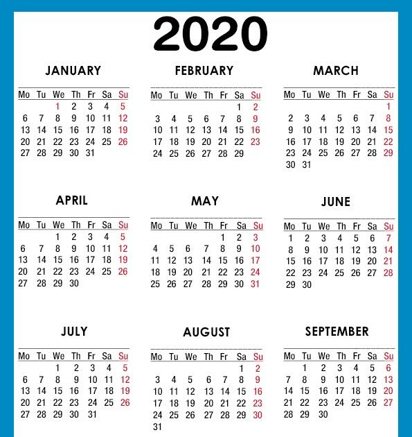 最高 Ever 2020 A4 Calendar - 好奇心