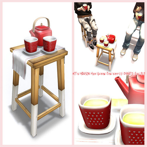 *Y's HOUSE* Hot Green Tea set-11 [HART]_for FLF