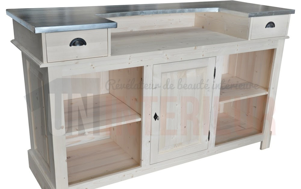 Meuble cuisine table bar comptoir meuble for Cuisine ouverte bar table