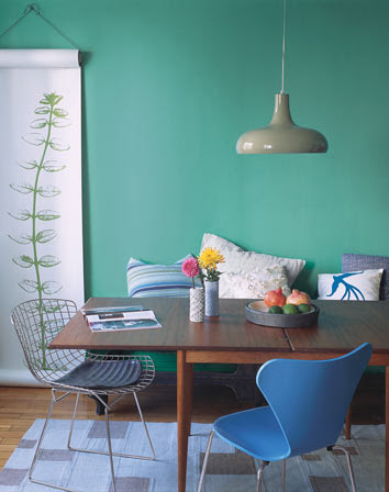 Turquoise Dining Area