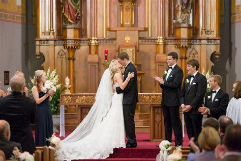 First Kiss After Wedding Ceremony   Elizabeth Anne Designs