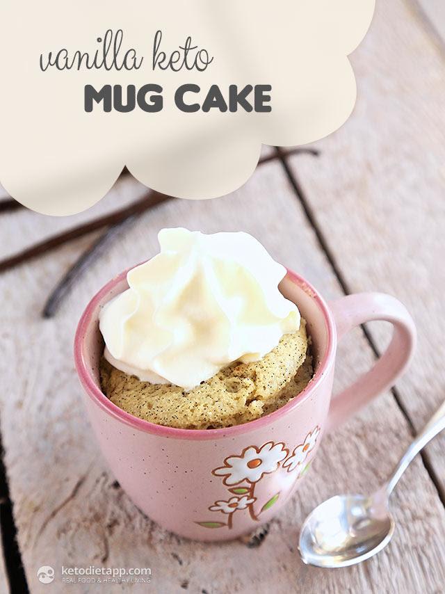 Vanilla Keto Mug Cake | The KetoDiet Blog