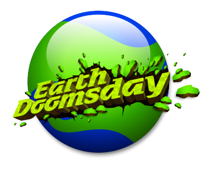 earth doomsday unique modern type typography design fresh