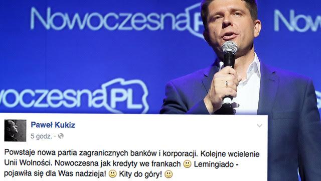 """""""Powstaje nowa partia zagranicznych banków  i korporacji"""". Kukiz ostro o inicjatywie Petru"""