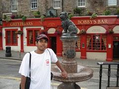 Ukiran patung Bobby, Edinburgh, Scotland, United Kingdom