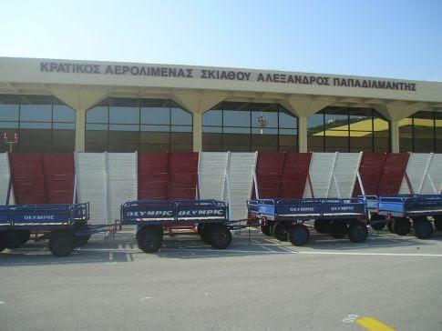 Οι αφίξεις ξένων τουριστών μέσω του αεροδρομίου «Αλέξανδρος Παπαδιαμάντης» έφτασαν τις 177.146 όταν πέρσι την ίδια χρονική περίοδο ήταν 159.746, δηλαδή 17.400 άτομα, αύξηση 10,9% περίπου (φωτό αρχείου)