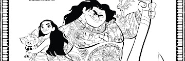 Free Printable Moana Coloring Pages Pdf