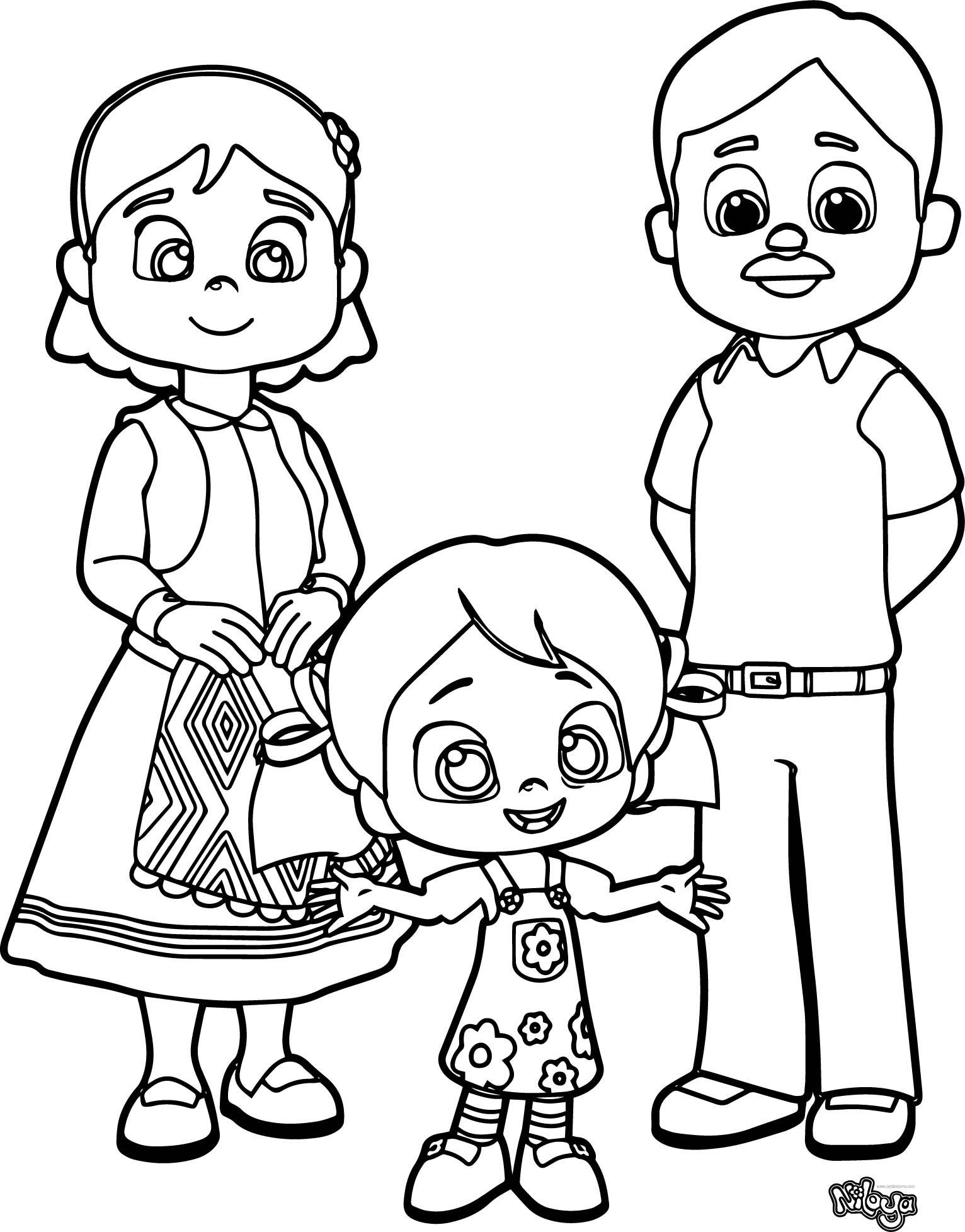 Niloya Ailesi Ile Beraber Boyama Sayfası