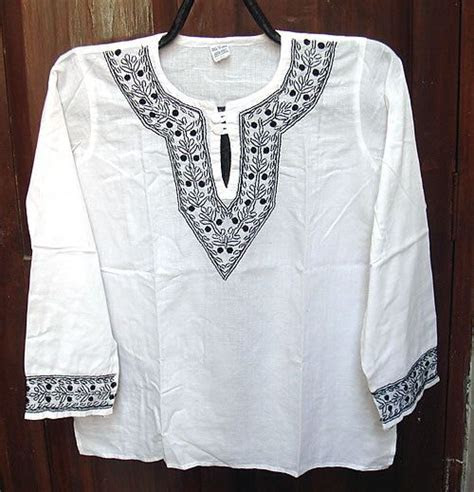 Valentines day gift for him Cotton shirt mens Tunic top