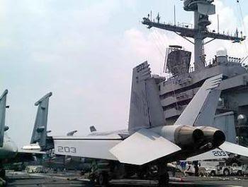 USS John C.Stennis 2 USS John C.Stennis, Carrier in Transformers Docks At Port Klang
