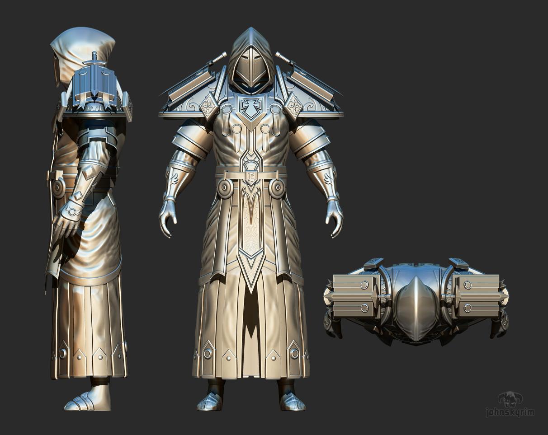 I'm working on Tier 2 Judgement Armor for Skyrim, here is my progress | Rebrn.com
