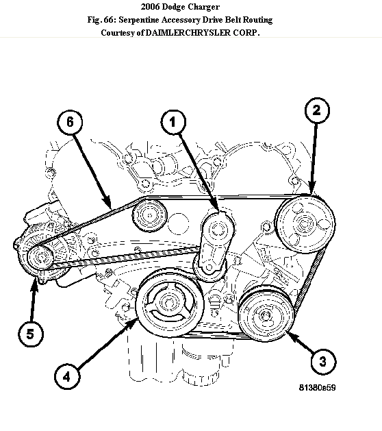 57 Hemi Serpentine Belt Diagram
