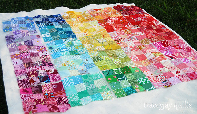 Rainbow patchwork blocks