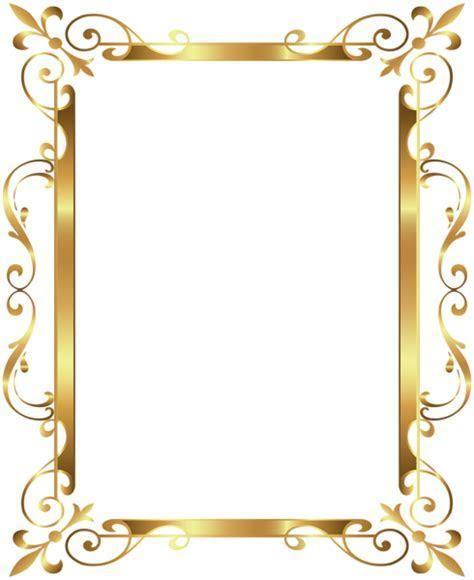 Gold Border Frame Deco Transparent Clip Art Image   ????