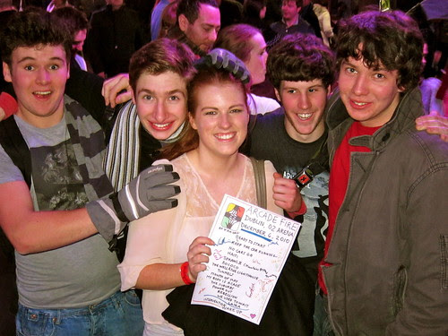 """Set list winners - so cute, the guys came up with her chanting 'we have a winner! we have a winner!"""" Crazy Dublin!"""