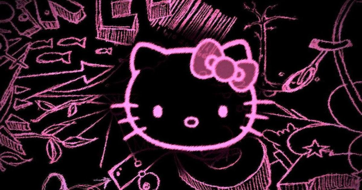 52 Gambar Wallpaper Hello Kitty Hitam Trend Saat Ini