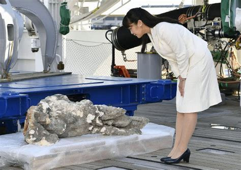 Princess Mako of Akishino visited the research vessel