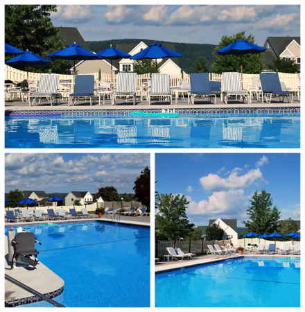 Collage of the Outdoor Pool at the Cranwell Resort, Spa, and Golf Club